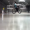 The first test flight of a flying bike