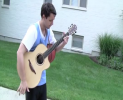 Dribbling, dunking, playing guitar – wait! What?