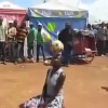 This woman has impressive ball control skills